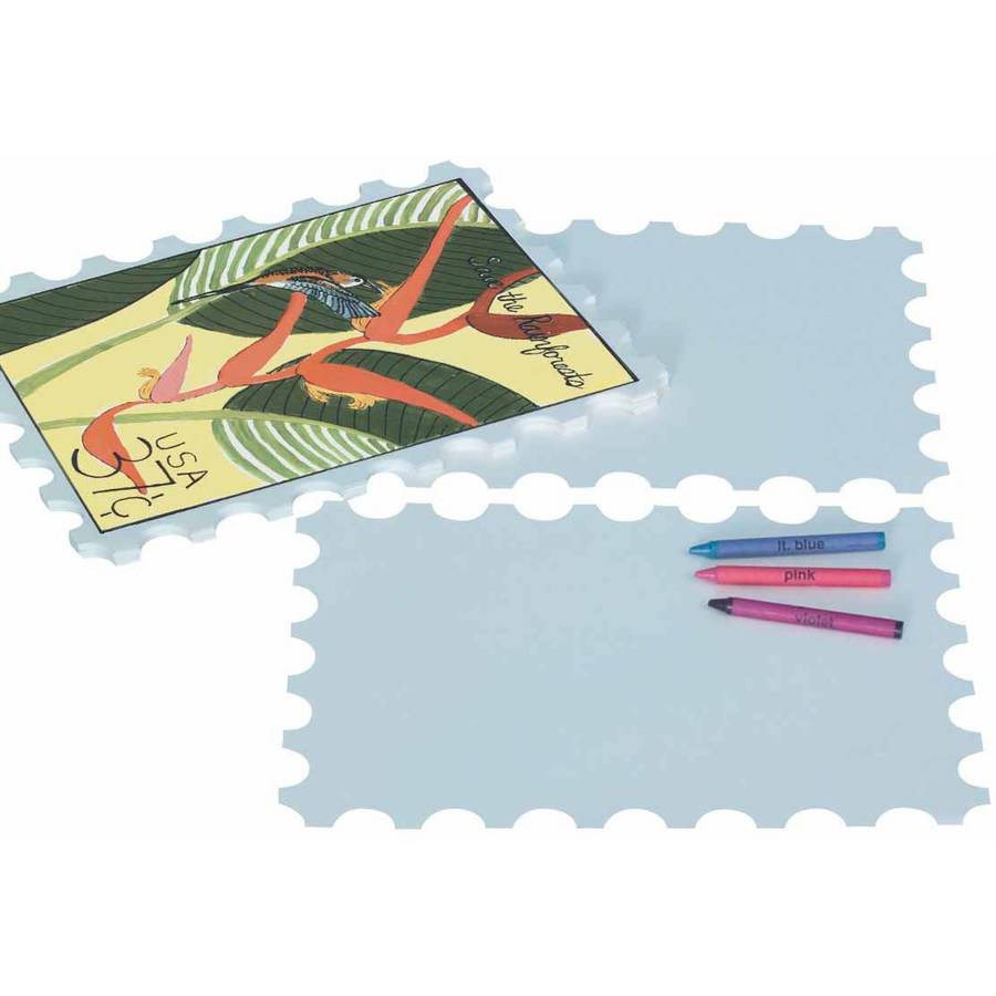 """Roylco Postage Stamp Paper, 9"""" x 12"""", Pack of 32"""