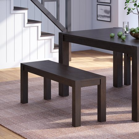 Better Homes & Gardens Bryant Solid Wood Dining Bench, Deep Coffee Finish ()