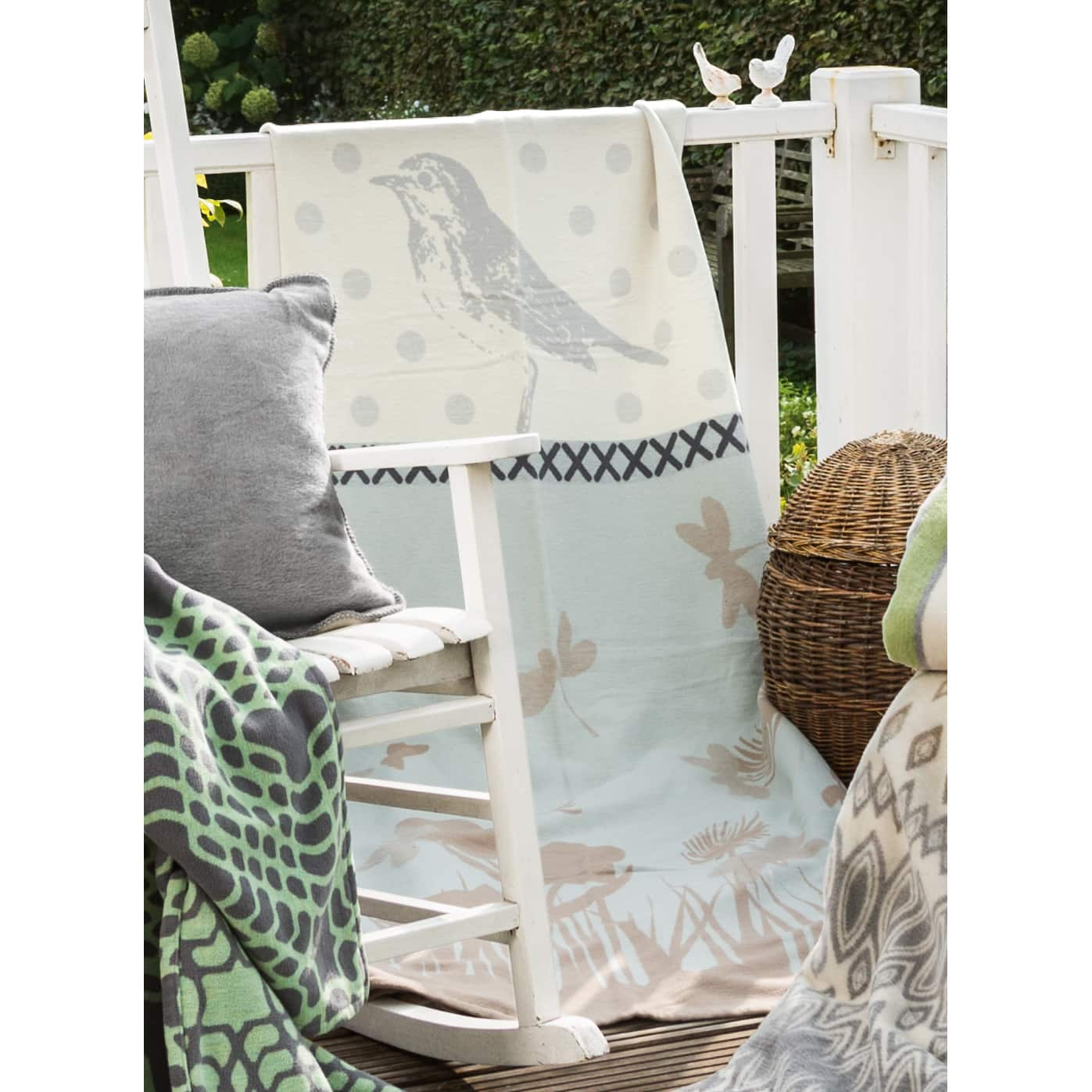 IBENA Cotton Pure Butterfly Field Oversized Throw