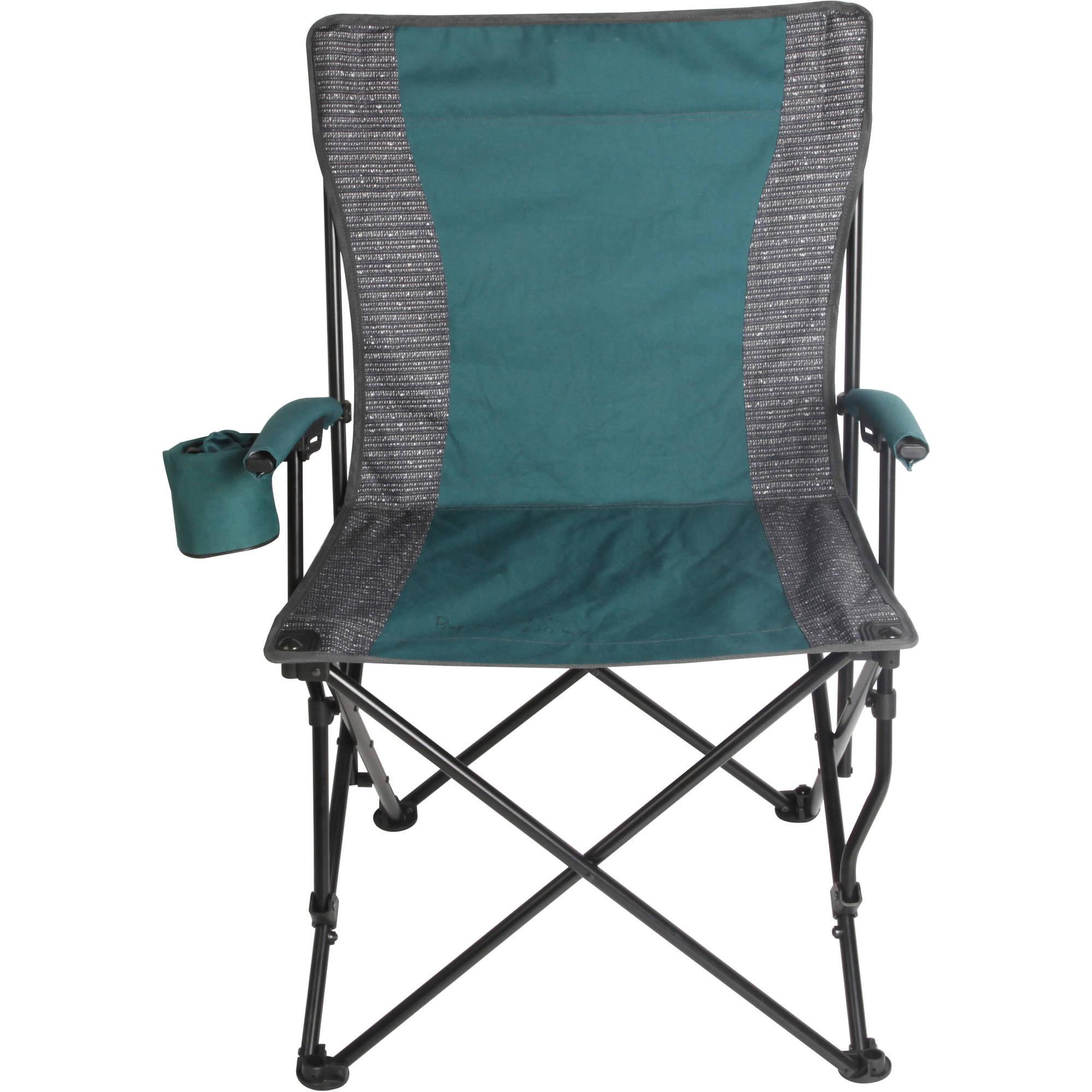 Ozark Trail Quad-Folding Basic Hard Arm Chair with Cup Holder