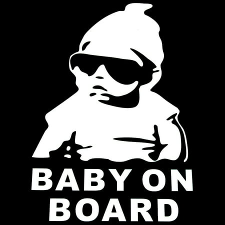 Cute Lovely Baby Cool Hat Sunglasses on Board Pattern Car Sticker Window Reflective Sheeting 3D Car Windshield Decal Rear Funny Outside Styling Auto 4 Windshield Decal