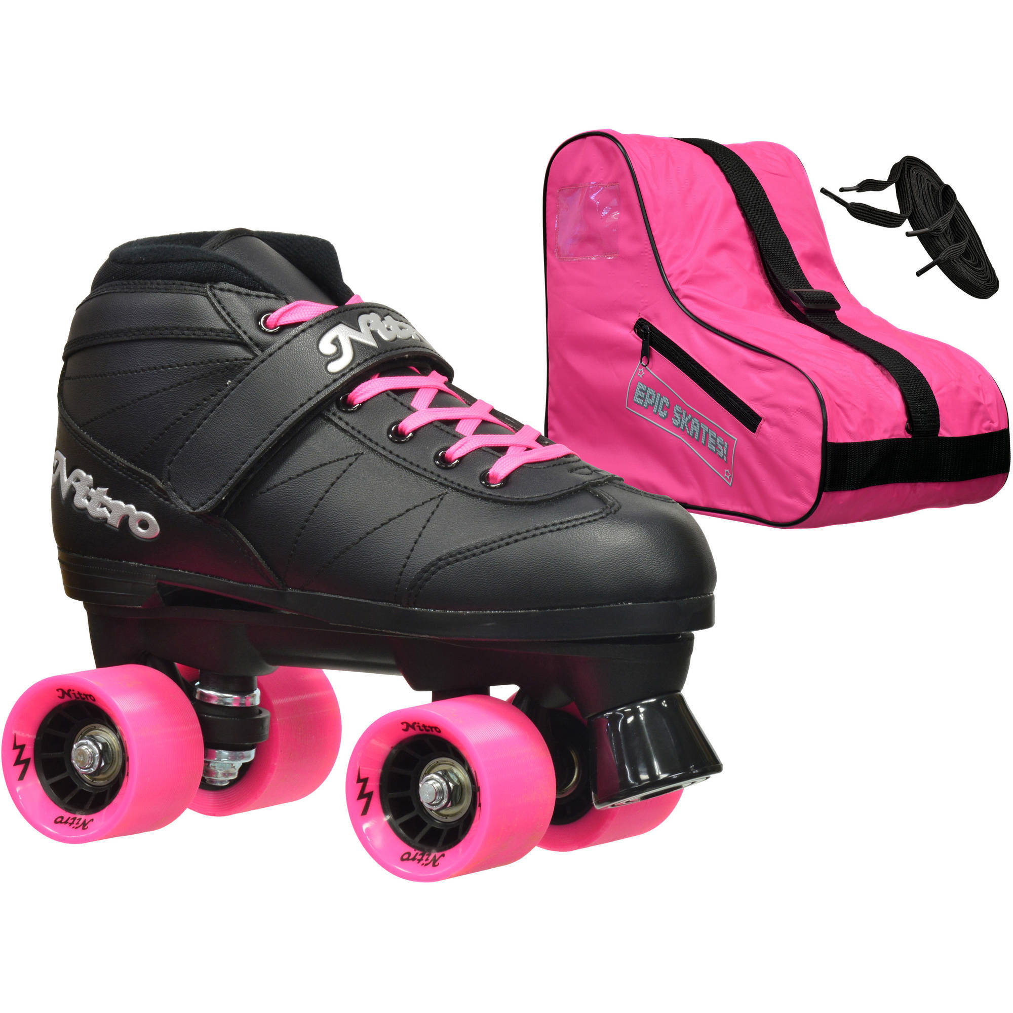 Epic Youth Super Nitro Pink Speed Roller Skates Package by Epic Skates