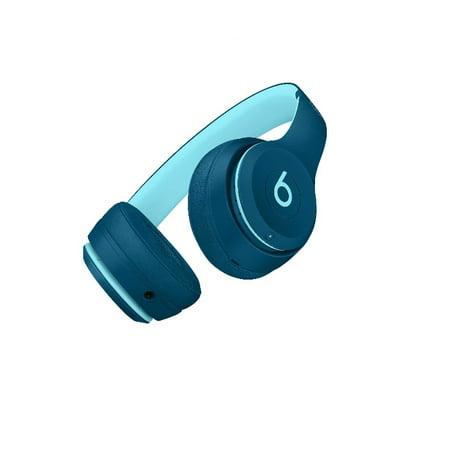 Refurbished Apple Beats Solo3 Wireless Pop Indigo Beats Pop Collection On Ear Headphones MRRF2LL/A