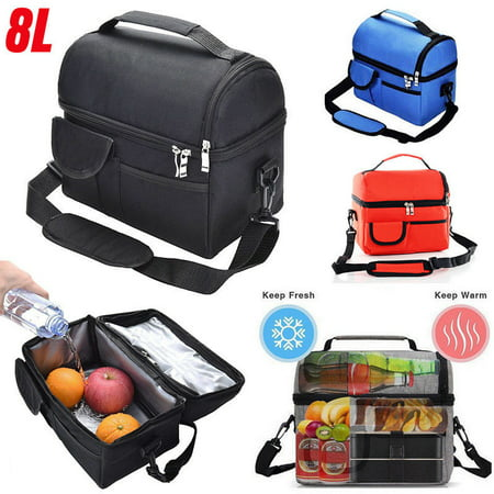 4362aa944b 8L Hot/Cooler Double Insulated Tote Lunch Bag Portable Thermal Lunch ...
