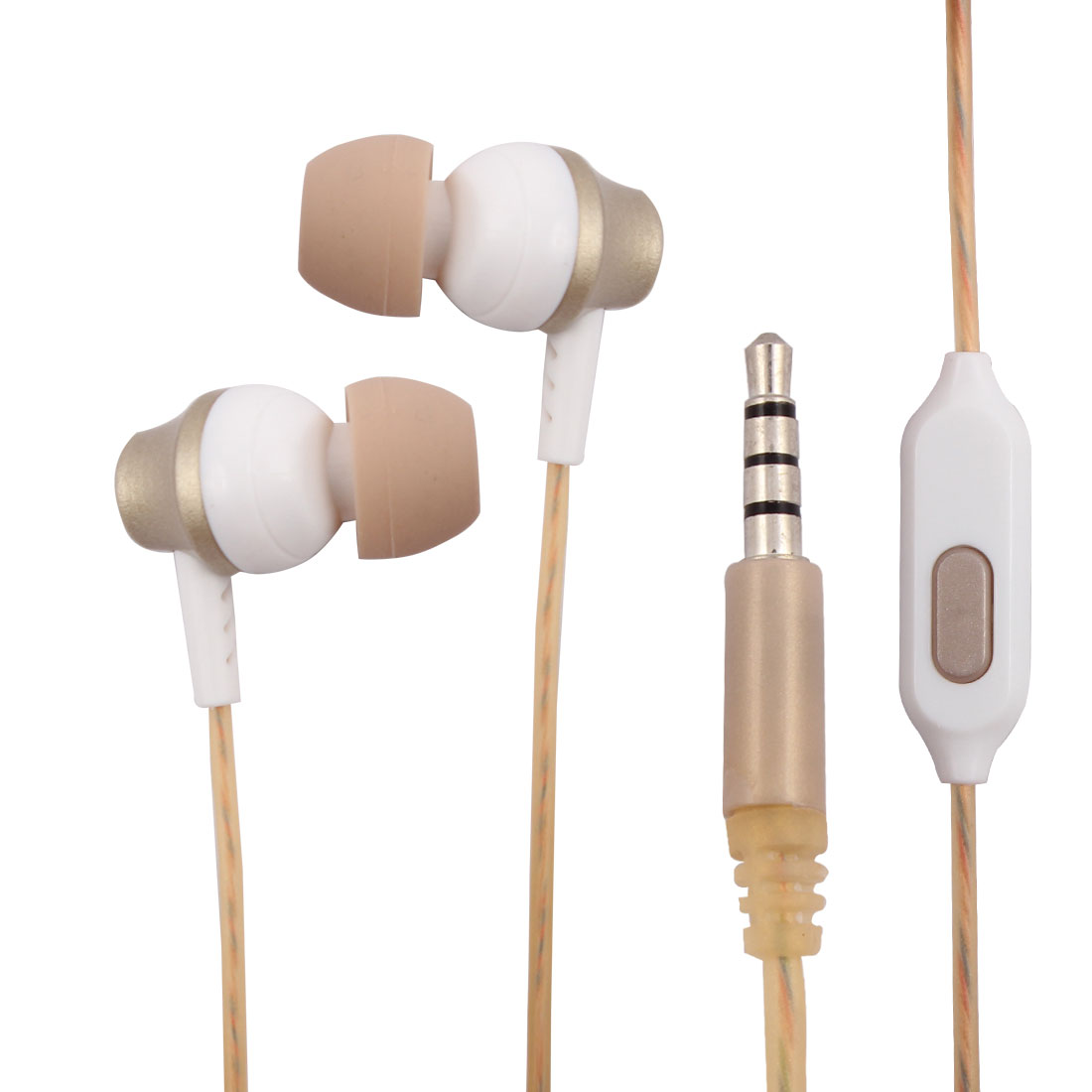3.5mm Audio Cable Perfume Earphone Stereo Sound Headset Headphone Champagne Gold