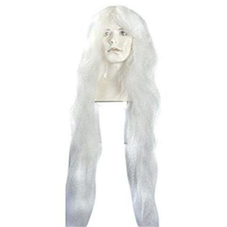 Morris Costumes LW227WT Kabuki Bargain White Wig Costume - image 1 de 1