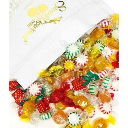 Arcor Hostess Mix | Filled Strawberry, Butterscotch Buttons, Cinnamon Disks, Mint Starlights, Lemon Discs | deluxe hard candy mix bulk | 4 pounds