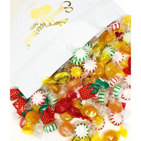 Arcor Hostess Mix | Filled Strawberry, Butterscotch Buttons, Cinnamon Disks, Mint Starlights, Lemon Discs | deluxe hard candy mix bulk | 4 pounds