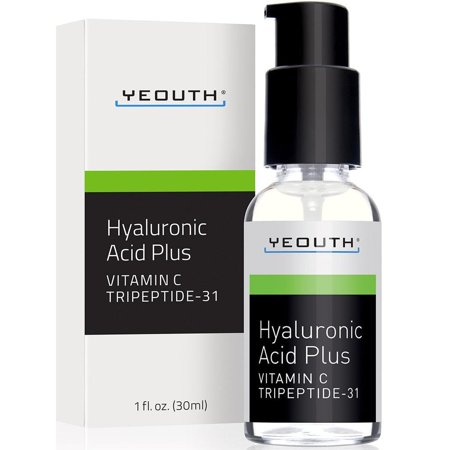 YEOUTH Best Anti Aging Vitamin C Serum with Hyaluronic Acid & Tripeptide 31 Trumps ALL Others. Maximum Percentage Vitamin-C Topical Vit C Can Make Your Face Look Ten Years Younger! (Best Vitamin C Hyaluronic Serums)