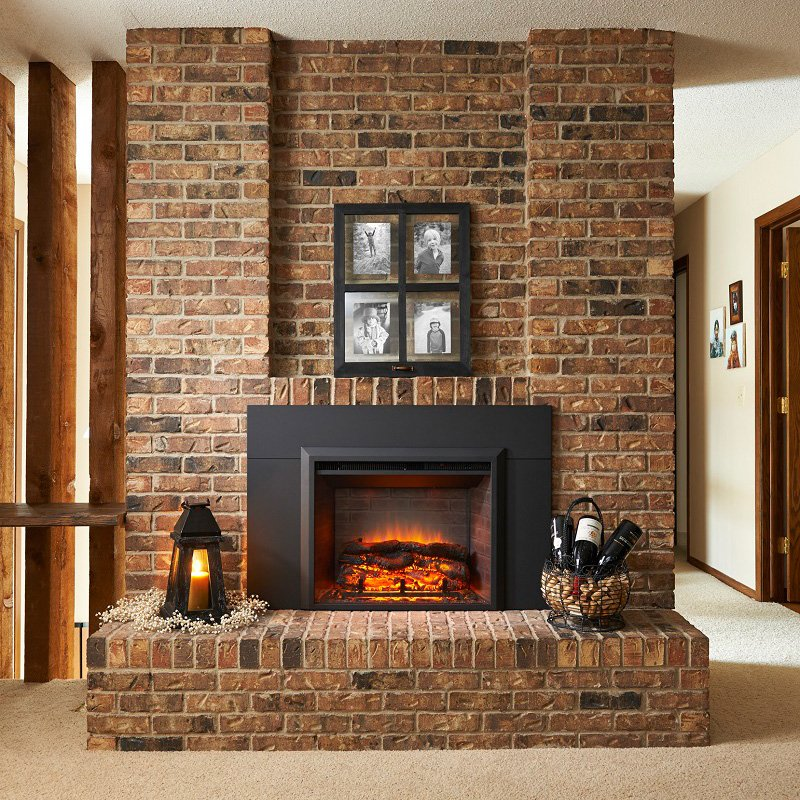 Outdoor GreatRoom Electric Gallery Fireplace with Surround