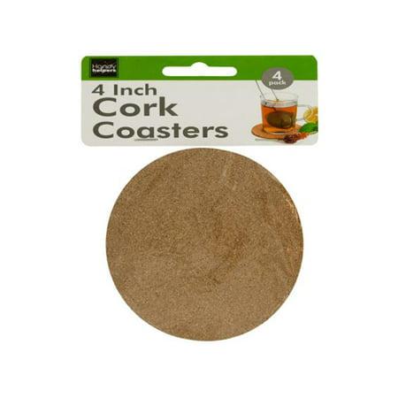 Bulk Buys HR426-72 Cork Beverage Coasters Set, 72 Piece - Cork Coasters Bulk