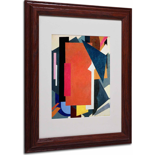 "Trademark Fine Art ""Abstract III"" Matted Framed Art, Wood Frame"