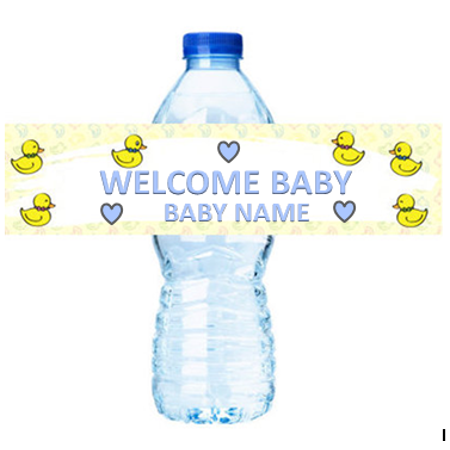 Baby Duck  Party Decorations -  15ct Water Bottle Labels Stickers - Oregon Ducks Stickers