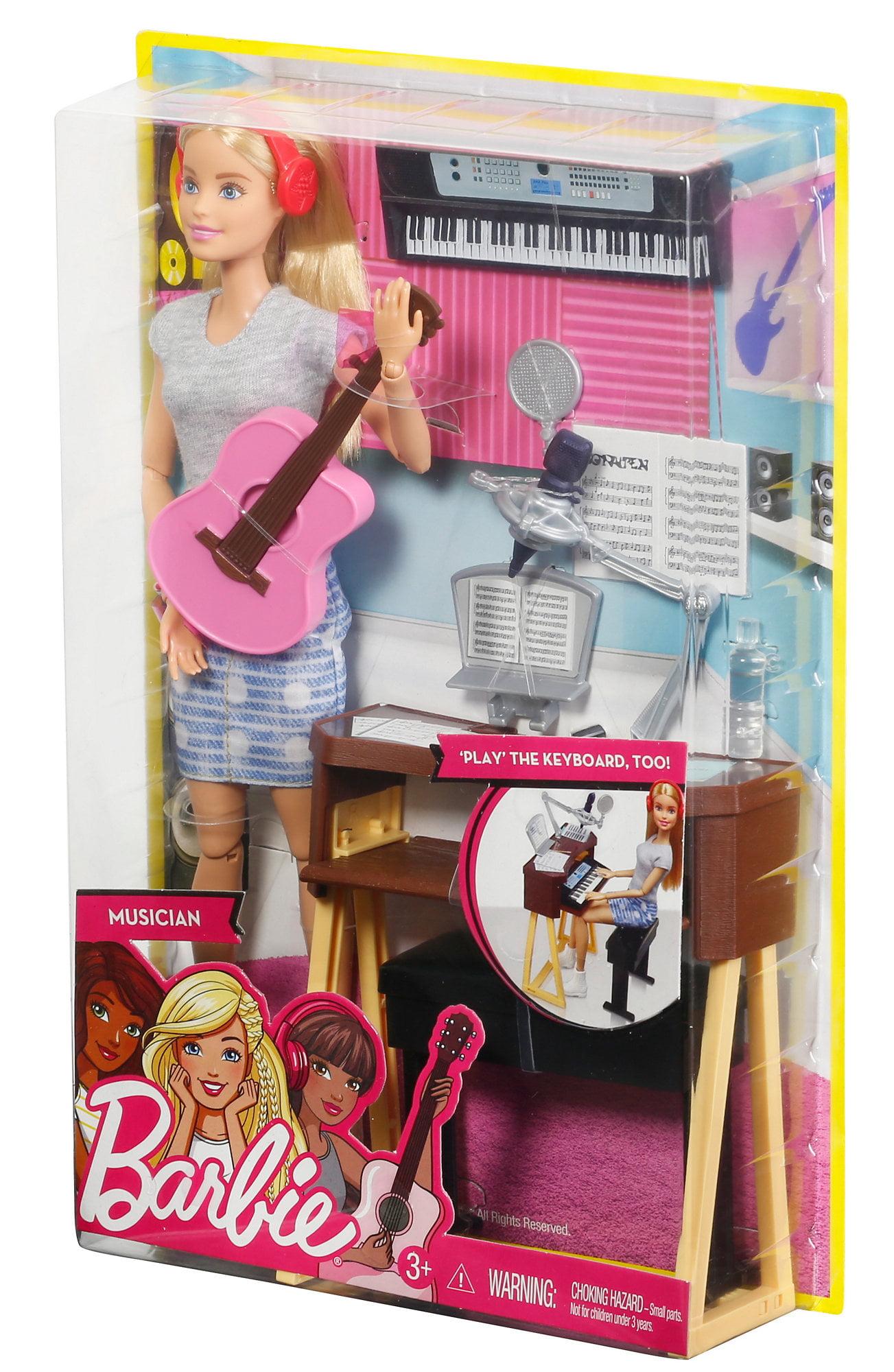 barbie careers musician doll playset blond walmart com
