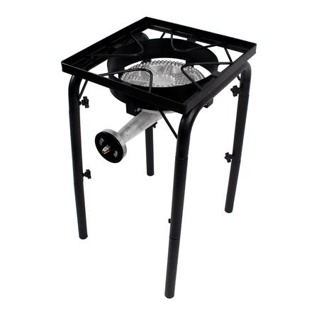 Gas One Propane Single Burner 200,000BTU with Height Adjustability 0-20 PSI Adjustable Regulator and Hose Camp Stove