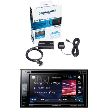 "Pioneer AVH-X3800BHS 6.2"" Double-DIN In-Dash DVD Receiver and Sirius-XM SXV300V1 SiriusConnect Vehicle... by"
