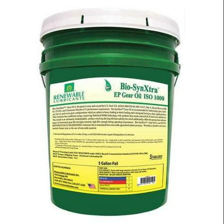 Renewable Lubricants Gear Oil, Pail, Yellow, 5 gal., 82484
