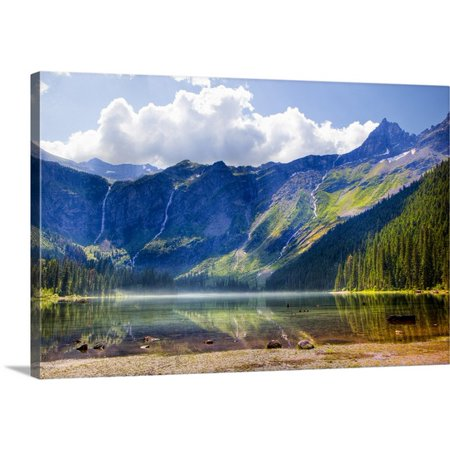 Great BIG Canvas Jamie and Judy Wild Premium Thick-Wrap Canvas entitled Avalanche Lake, Glacier National Park, (Best National Parks In Montana)