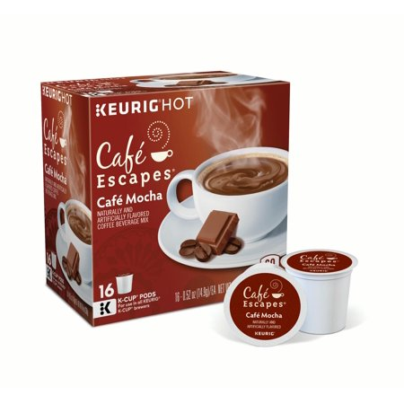 Caf © Escapes Caf © Mocha Keurig Single-Serve K-Cup Pods, 16 Count