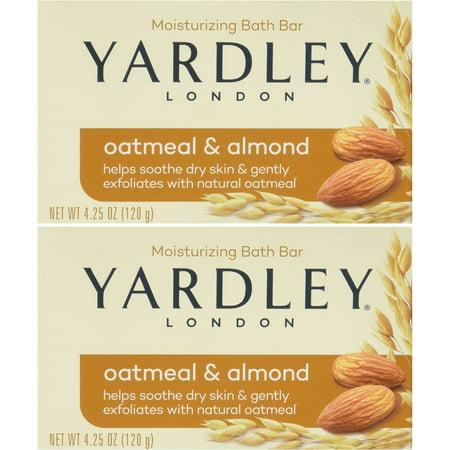 Yardley London Soap Bath Bar Oatmeal & Almond 4.25 Oz 120 G Pack of - Halloween Themed Bars In London