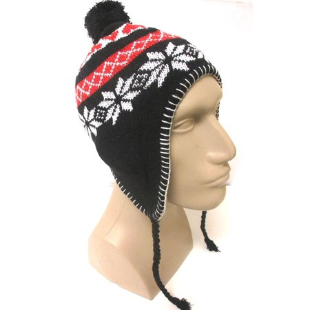 ab7dabf6982 1 Earflap Peruvian Hat Earmuff Ski Skully Beanie Cap Snow Womens Mens  Winter ! - Walmart.com
