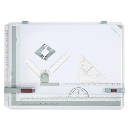A3 Multi-Function Plastic Drawing Board College School Parallel Motion With Set Square Graphic Design Art (A2 Desktop Drawing Board With Parallel Motion)