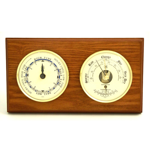 Bey-Berk Tide Wall Clock with Barometer and Thermometer by Bey-Berk