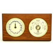 Breakwater Bay Dowdy Tide Wall Clock with Barometer and Thermometer