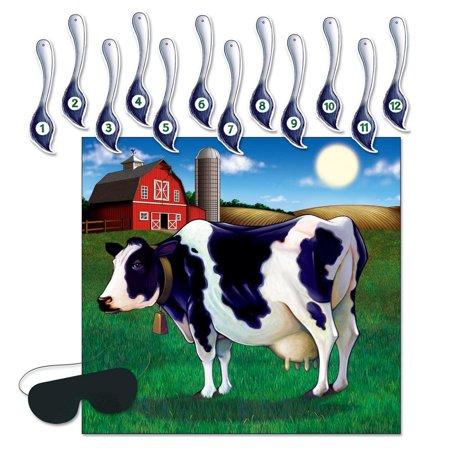 (24ct) Pin The Tail On The Cow - Pin The Tail On The Cow