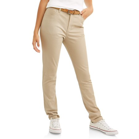 Real School Juniors' 5-Pocket Stretch Skinny School Uniform Pant (Junior Uniform Dress)