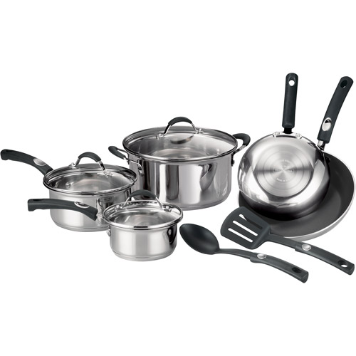 Tramontina 10-Piece Stainless Steel Cookware Set
