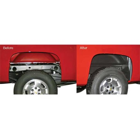 Rugged Liner Wwc011HD (Lik33) 11-14 Silverado 2500/3500 Inner Wheel Rear Fender Well Liners (Inner Fender Well Clips)