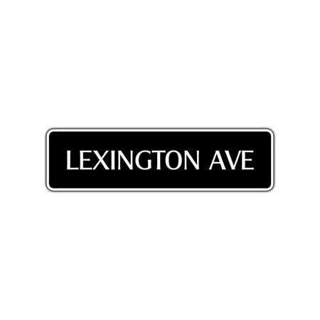 Lexington Avenue Aluminum Metal Novelty Street Sign NYC New York City Gift Décor 4x13.5](Party City 14 Street Nyc)