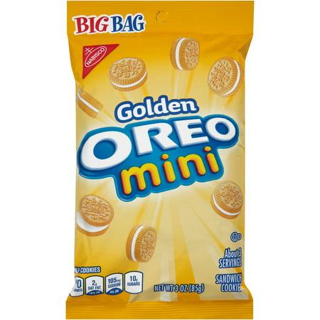 Oreo Nabisco Golden Mini Sandwich Cookies, 3 Ounce -- 12 per -