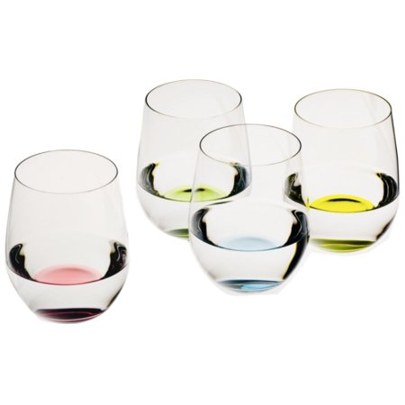 Riedel O Happy Stemless Wine Glass Tumbler, Set of 4 ()
