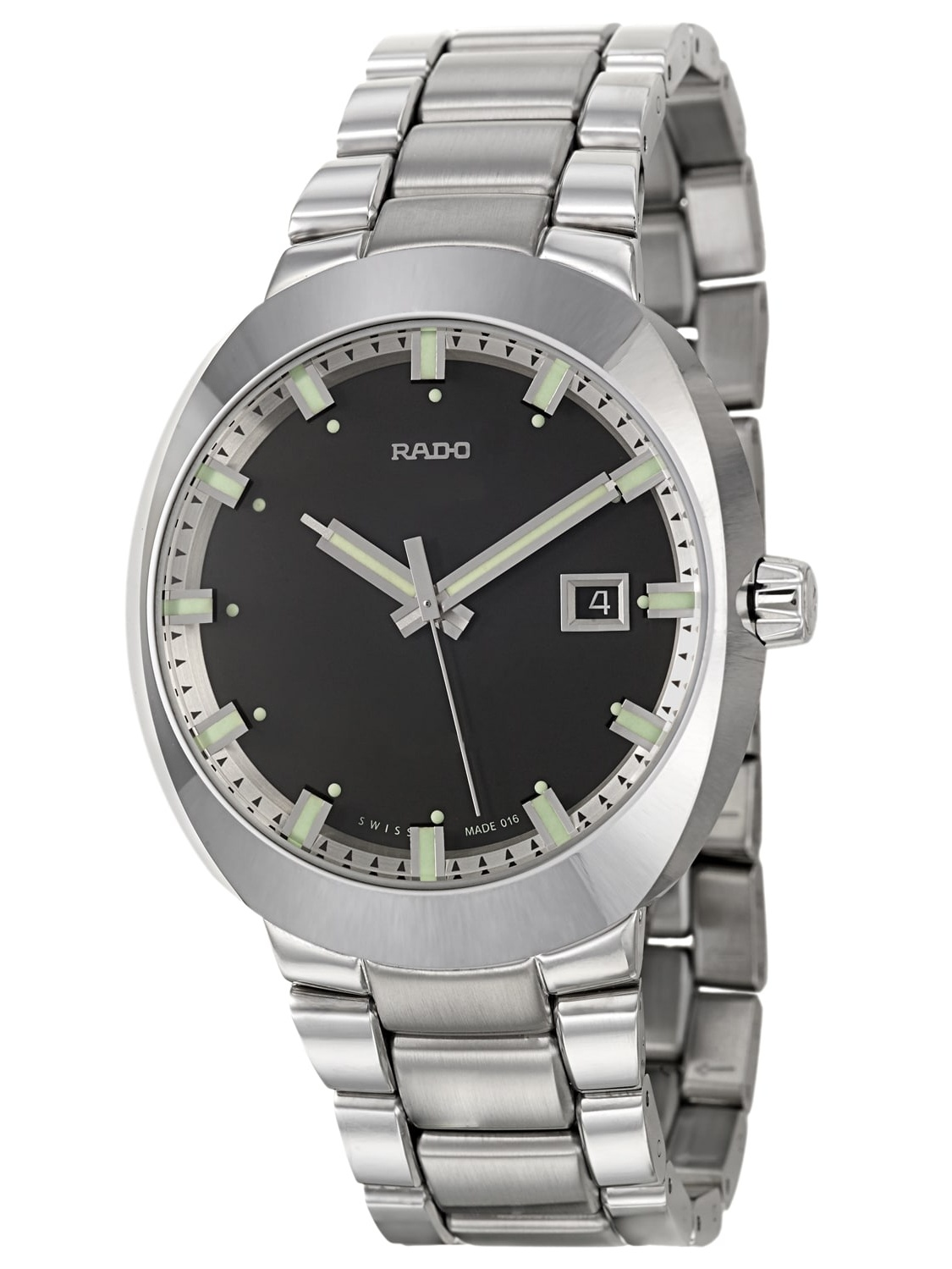 Rado  Men's 'D-Star' Ceramos Black Dial Swiss Quartz Watch