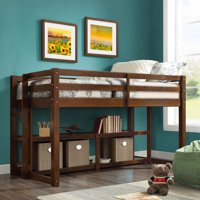 Better Homes and Gardens Greer Twin Loft Storage Bed with Spacious Storage Shelves, Multiple Finishes
