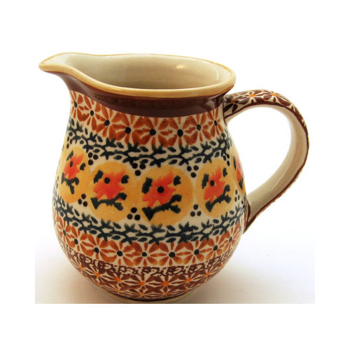 Euroquest Imports Polish Pottery 14 oz Pitcher - Pattern DU70