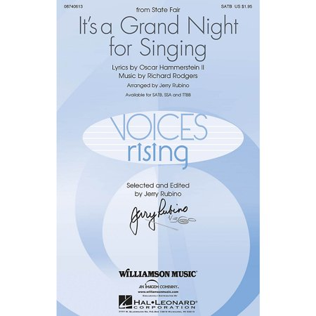 Williamson Music It's a Grand Night for Singing (from State Fair) TTBB Arranged by Jerry (State Fair Its A Grand Night For Singing)