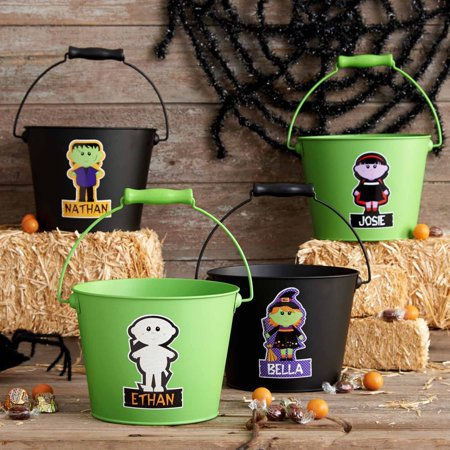 Personalized Spooktacularly Cool Treat Pail, Frankenstein - Personalized Halloween Pails