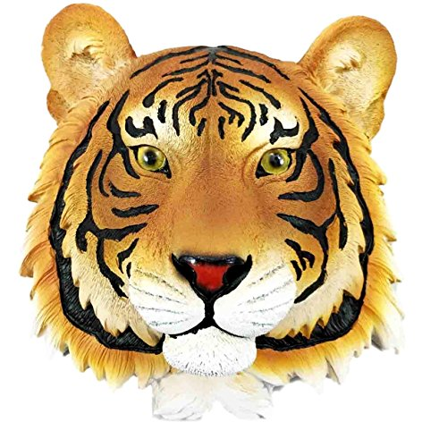 Magnificent Indian Bengal Tiger Sultan Mini Wall Bust Sculpture Hanging Figurine
