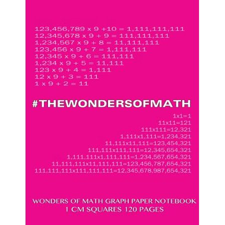 Wonders Of Math Graph Paper Notebook 120 Pages With 1 Cm Squares  8 5 X 11 Inch Notebook With Pink Cover  Graph Paper Notebook With One Centimeter Squ