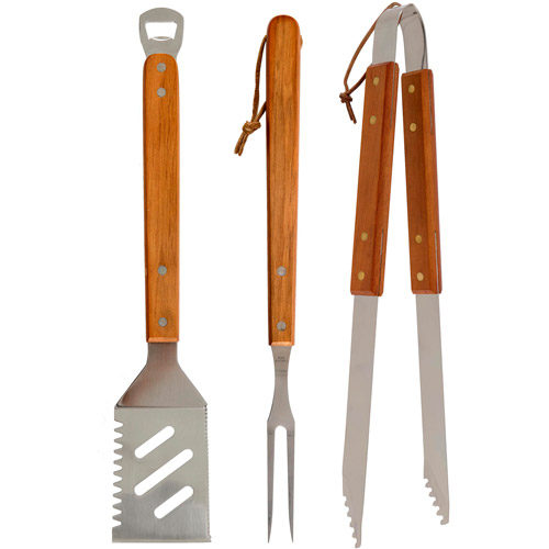 Mr. Bar-B-Q 3pc Stainless Steel Nested Tool Set