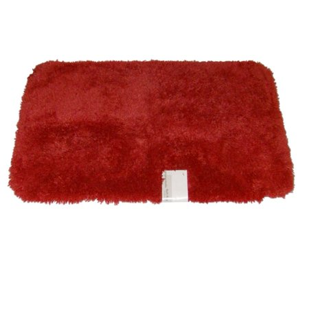 Orange Bath Rugs (Envision Orange Coral Throw Rug No-Skid Accent Bath Mat 21x34 )
