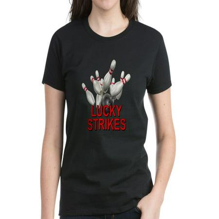 CafePress - Lucky Strikes Women's Dark T Shirt - Women's Dark