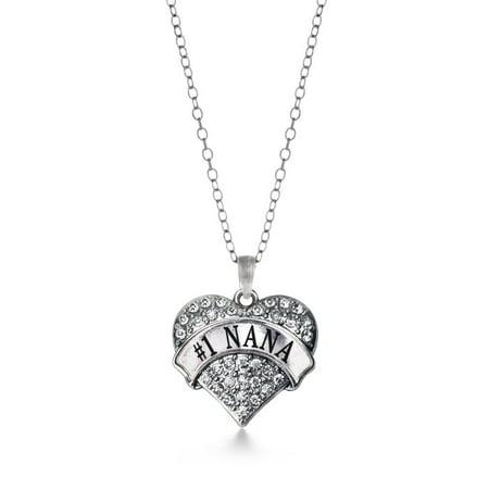 #1 Nana Pave Heart Necklace
