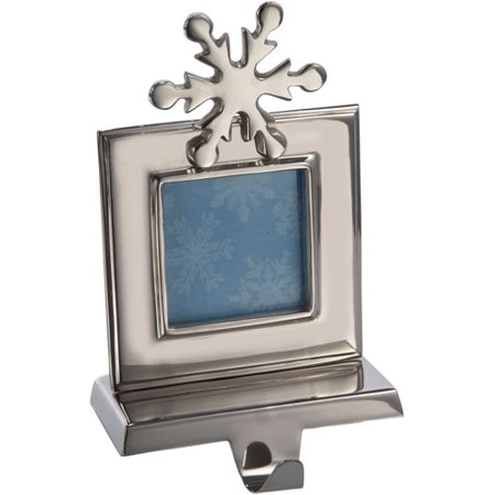- Kurt Adler Silver Snowflake Picture Frame Stocking Holder