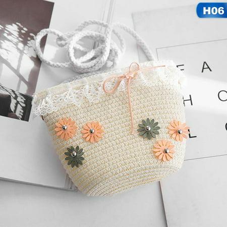 Fancyleo Baby Small Bag Straw Shoulder Messenger Crossbody Bag Girl Mini For Summer Hot