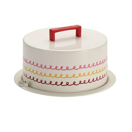 Cake Boss Serveware Metal Cake Carrier, â Icingâ , Cream