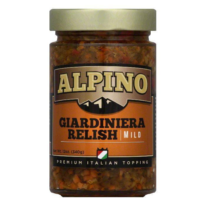 Alpino Mild Giardiniera Relish, 12 Oz (Pack of 6) by